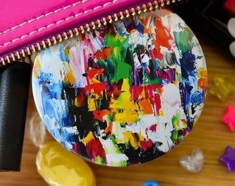 Abstract Art Pocket Mirror-Summer Gifts For Women-Handbag Mirror-Art Gifts for her-Compact Mirror-Gifts for Mom/Mum-Small Gifts for Friends