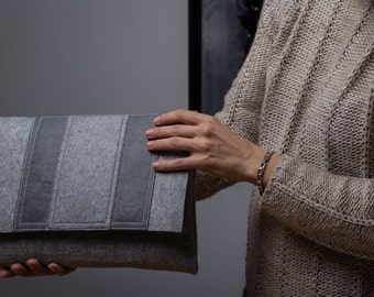 SALE! Large Felt Clutch, Ipad cover, Ipad case