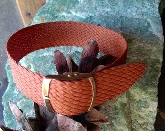 nylon weave vintage light brown watch strap