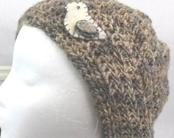 Beret, Pastel Beret, Women Beret, Crochet Beret, Slouchy Crochet Hat, Slouchie Hat