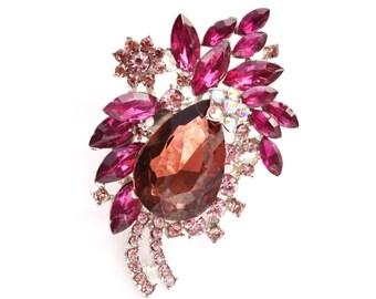 Purple Brooch Rhinestone Crystal Brooch Wedding Accessories Bridal Brooch bouquet Wedding Cake Brooch