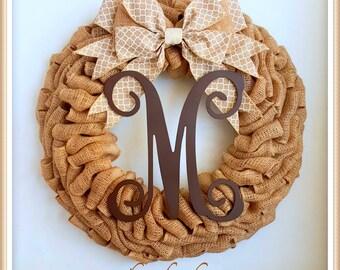 Fall Wreath-Burlap Wreath-Fall Decoration-Thanksgiving Wreath-Thanksgiving Decoration-Autumn Wreath-Outdoor Door Wreath-Front Door Decor-