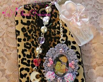 Sailor Moon Planner & Cell Phone Plugs/Charm: Sailor Moon and Tuxedo Mask- Sweet Lolita, Fairy Kei, Kawaii