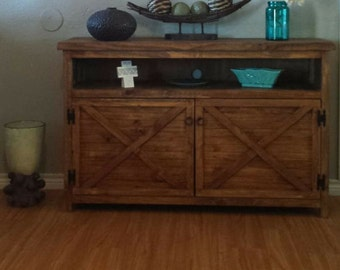 Rustic TV stand, entry way table, credenza