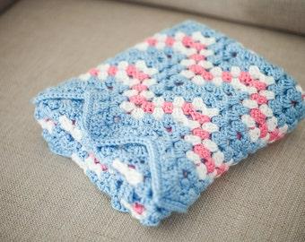 ripple wave crochet baby blanket