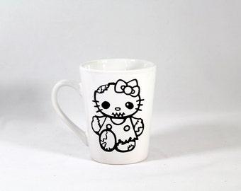Zombie Cute Kitty Undead Bloody Coffee Cup Mug