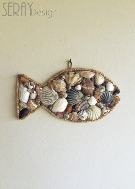 Etsy Coastal Wall Decor : Seashells decor nautical wall coastal by seraydesign