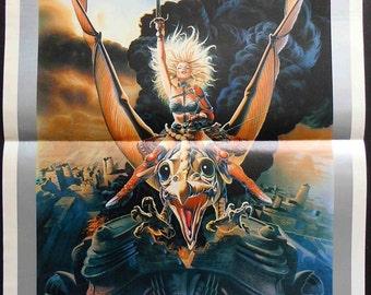 "Original poster movie ""Heavy Metal"" 1981 Gerald Potterton.  Vintage movie posters. Cult films. Metal Music, Black Sabbath. Music poster"