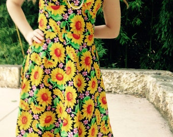 Sunflower tie strap dress