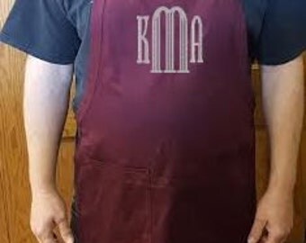 Customized Embroidered Easy Care Bib Apron With Stain Release