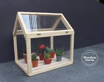 Classic Greenhouse for cactus, succulent, (planter)