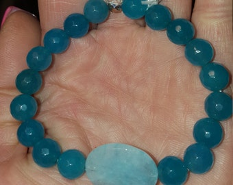 Brazilian aquamarine bracelet