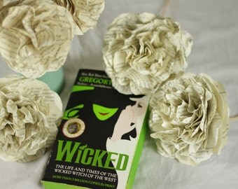 CUSTOM MADE Wicked Flower Bouquet Using A Second Hand Novel - 6 or 12 Flower Bouquet