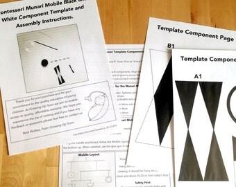 Montessori Mobile Munari Template and Instructions