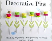 Decorative Sewing Pin - Fancy Pins - Gifts for Quilter - Push Pin - Scrapbooking Pin - Bulletin Board Pin - Quilting Pin - Embellishment Pin
