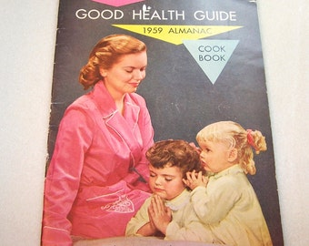 RawLeigh's Good Health Guide 1959 Almanac Cook Book Vintage Cookbook 70th Anniversary Issue 1959 Calendar Promotional Item Old Booklet