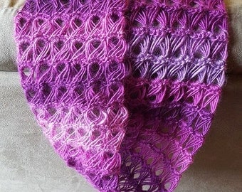 Beautiful Broomstick Lace Variegated Infinity Scarf
