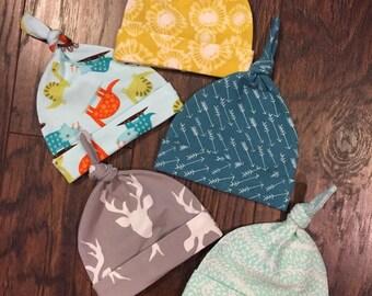 Newborn Jersey Knit Knot Hats