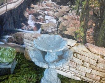 Fairy Garden Miniature Bird Feeder, Bird Bath, Garden Fountain (Resin) for your Fairy Garden, Miniature Garden Fountain,Garden Accessories