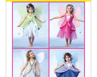 Sewing Pattern for Child Size 2 to 8, Children's/Girls' Fairy Costumes, McCall's Pattern 4887, Halloween Costume, Fairy with Wing Pattern