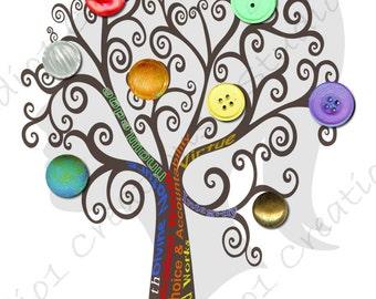 Personal Progress Button Tree
