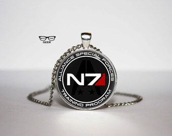 Mass Effect Necklace, N7 pendant, N7 necklace, for him, Art Gifts, for Her