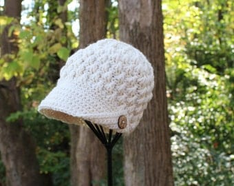 Women's Crochet Hat With Brim