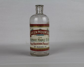 Green Mountain Maple Syrup Bottle