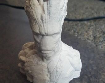 3D Printed Groot Bust unpainted