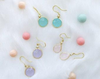 14Karat Gold Diamond and Gemstone Earrings