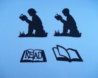 Boy and Girl Silhouette - Reading
