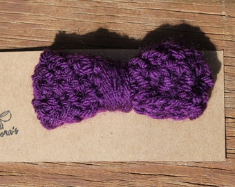 Purple 3in Crocheted Hairbow