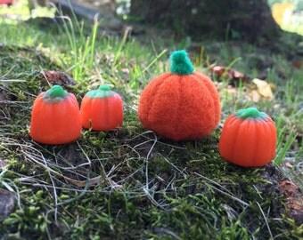 Needle Felted Mini Pumpkin