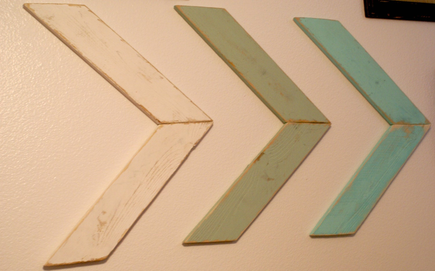 Wall Decor Wooden Arrows : Large single painted wooden arrow wall decor by