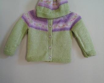 Child Floral Yoke Sweater