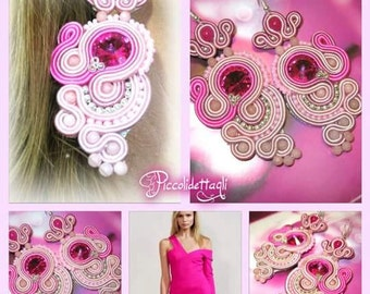 "Earrings Soutache ""Love Passion"""
