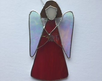 Red Angel in Tiffany technique