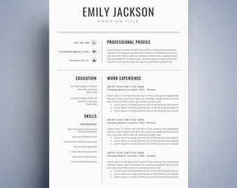 modern resume template cv template for word cover letter two page resume teacher resume professional resume instant download