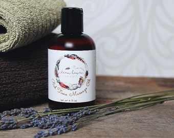 Relaxing Massage Oil - Essential Oil Massage - Massage Therapy - Natural Massage Oil - Stress Relief - Clean Haven Naturals - Lavender Oil