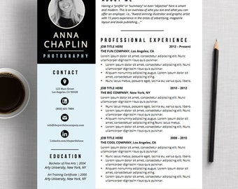 Apple pages resume etsy creative resume template cv template cover letter microsoft word and apple pages pronofoot35fo Gallery