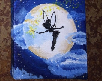 Tinkerbell canvas | Etsy