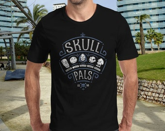Skull Pals T-Shirt | Unisex - Women - Kids | Awesome Geek Video Game Parody Clothes