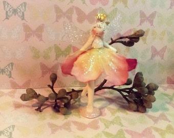 Fairy, miniature fairy, standing fairy, flower fairy