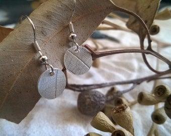 Leaf imprint earrings