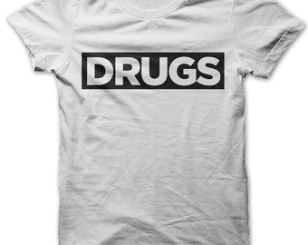 Drugs Obey style t-shirt