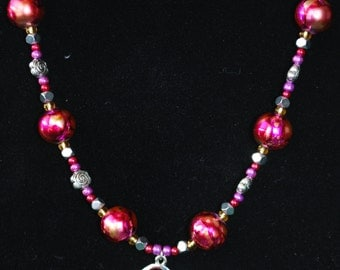 Rose Bloom Beaded Necklace