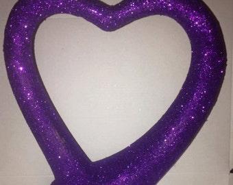 modern cadbury purple glittered heart