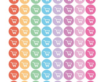 Shopping Grocery Cart Reminder Planner Diary Stickers
