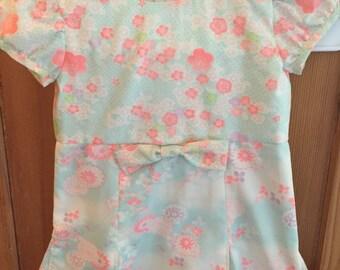 Girl's Dress/Vintage Japanese Juban Fabric/Size 5/OOAK