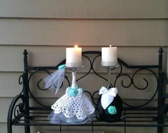 Beach wedding seashell wine glass candle holder wedding for Beach wine glass candle holders